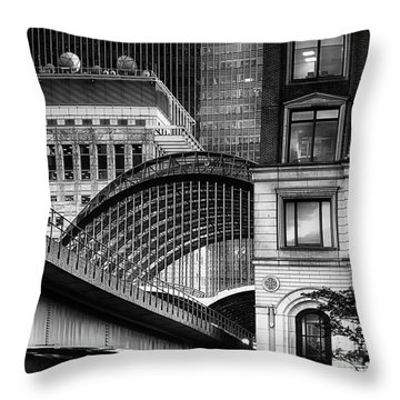 Throw Pillow featuring the photograph Canary Wharf Hssm by Jack Torcello