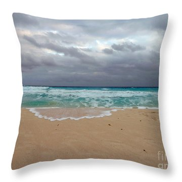 Cancun - Dark Sky Throw Pillow