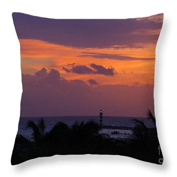 Cancun Lighthouse Throw Pillow by Halifax photographer John Malone