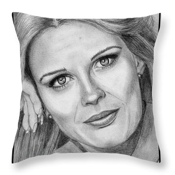 Candace Bergen In 1976 Throw Pillow by J McCombie