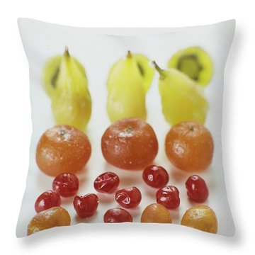 Candied Fruit Throw Pillow