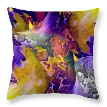 Candle Flower Throw Pillow