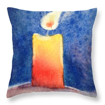 Candle Glow Throw Pillow by Marilyn Jacobson