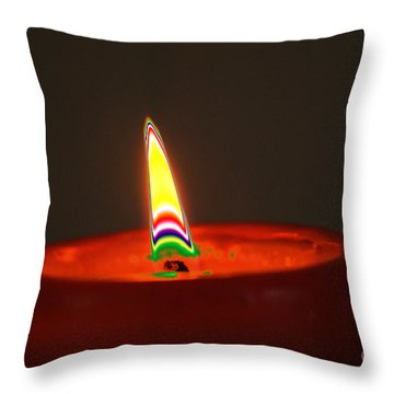 Candle Light Throw Pillow by Carol Lynch