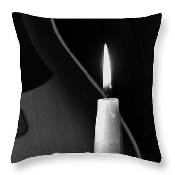 Candle Light Serenade Throw Pillow