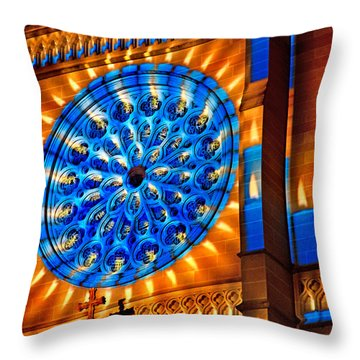 Candle Lights On Walls Throw Pillow