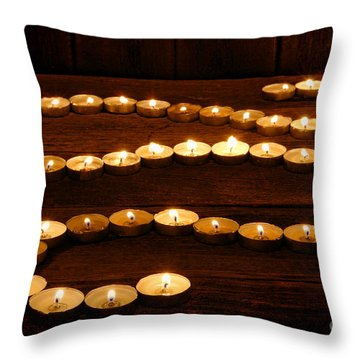 Candle Path Throw Pillow by Olivier Le Queinec