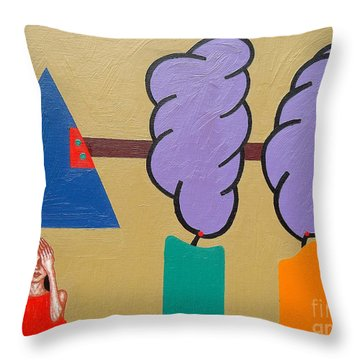 Candle Throw Pillow by Patrick J Murphy