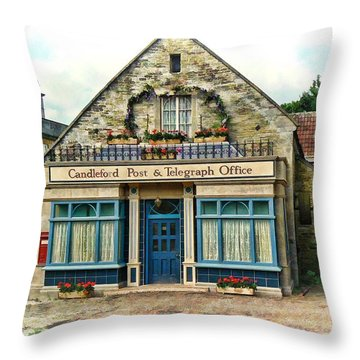 Candleford Post Office Throw Pillow