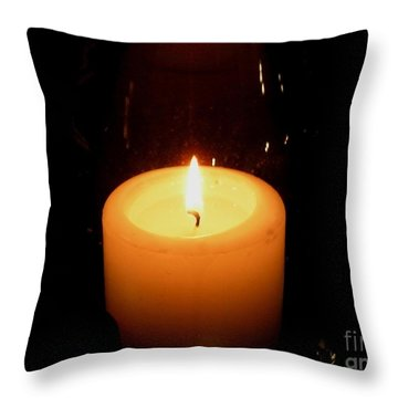 Candlelight Moments Throw Pillow