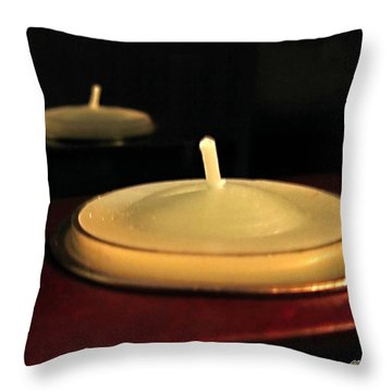 Candles And Relaxation Throw Pillow by Danielle  Parent