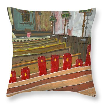 Candles In Cinque Terra Throw Pillow