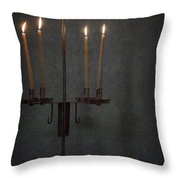 Candles In The Dark Throw Pillow by Margie Hurwich