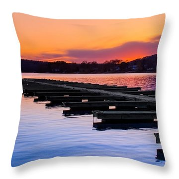 Candlewood Lake Throw Pillow by Bill Wakeley