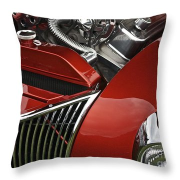 Candy Apple Red And Chrome Throw Pillow