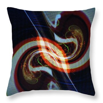 Candy Cane Swirl Throw Pillow by Michael Kegg