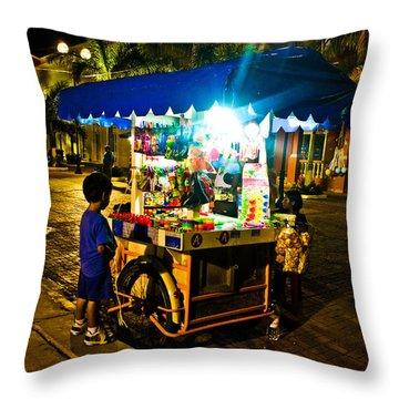 Candy Cart Throw Pillow