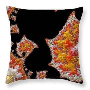 Throw Pillow featuring the digital art Candy Corn by Susan Maxwell Schmidt