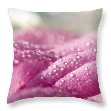 Candy Curves. Natural Watercolor. Touch Of Japanese Style Throw Pillow by Jenny Rainbow