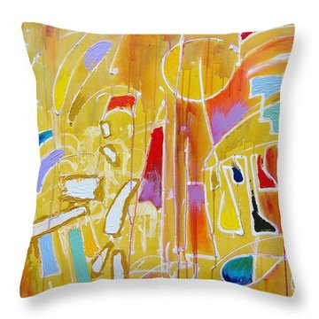 Candy Shop Garnish Throw Pillow