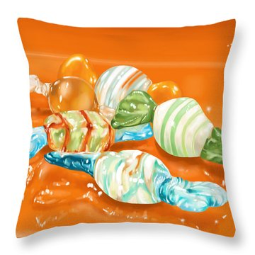 Candy Throw Pillow by Veronica Minozzi