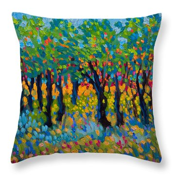 Candy Wood Throw Pillow