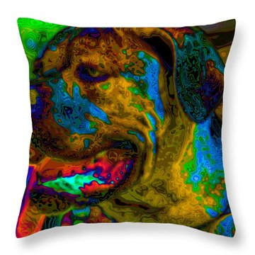 Cane Corso Pop Art Throw Pillow by Eti Reid