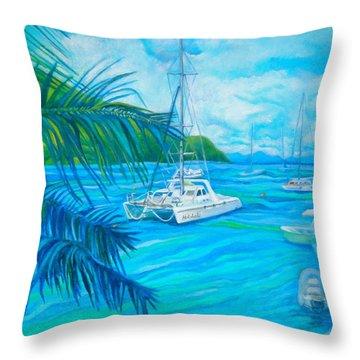 Cane Garden Bay Throw Pillow