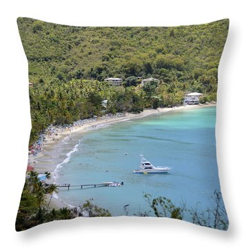 Cane Garden Bay Tortola Throw Pillow