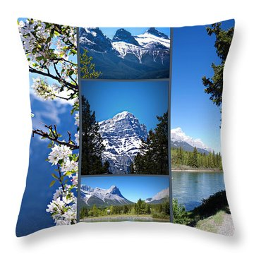 Canmore Alberta Throw Pillow