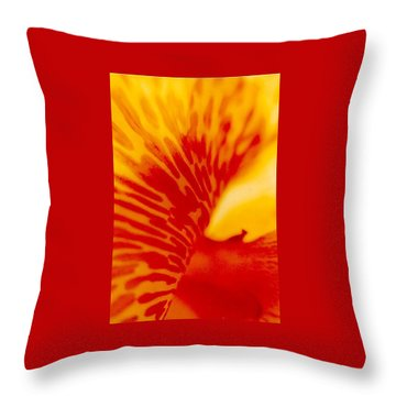 Throw Pillow featuring the photograph Canna Lilly by Michael Hoard