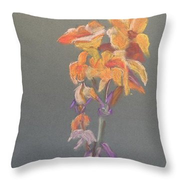 Canna Throw Pillow