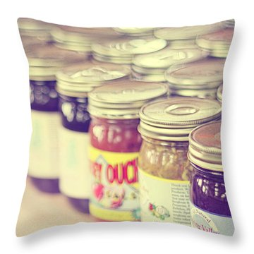 Canned Throw Pillow by Amy Tyler