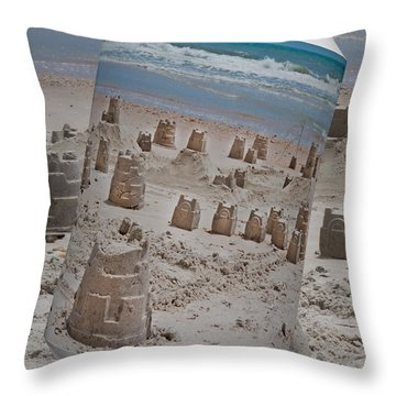 Canned Castles Throw Pillow