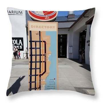 Cannery Row Directory At The Monterey Bay Aquarium California 5d25018 Throw Pillow