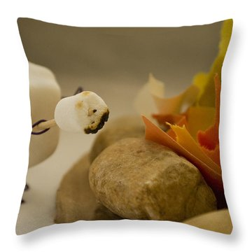 Cannibalism Is Sweet Throw Pillow by Heather Applegate