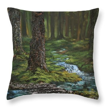 Cannock Chase Forest Throw Pillow