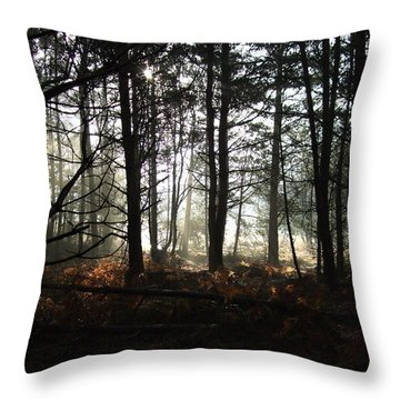Throw Pillow featuring the photograph Cannock Chase by Jean Walker