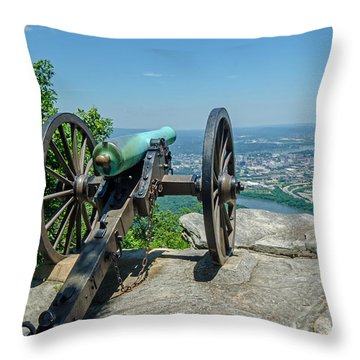 Cannon At Point Park Throw Pillow