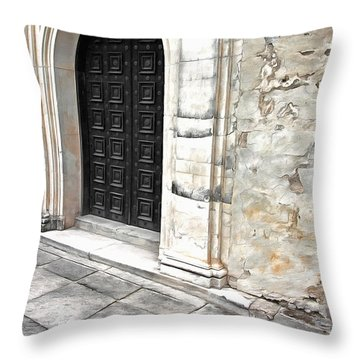 Cannon Balls Throw Pillow by Marion Johnson