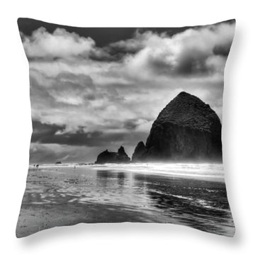 Cannon Beach On The Oregon Coast Throw Pillow by David Patterson
