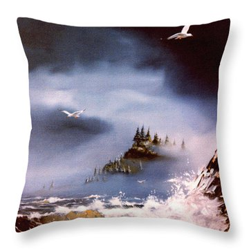 Cannon Beach Oregon Throw Pillow