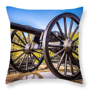 Cannon In New Orleans Washington Artillery Park Throw Pillow by Paul Velgos