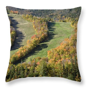 Cannon Mountain - White Mountains New Hanpshire Throw Pillow by Erin Paul Donovan