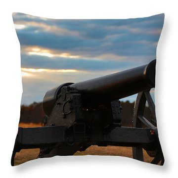 Cannon Of Manassas Battlefield Throw Pillow
