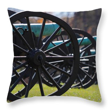 Cannons Of Manassas Battlefield Throw Pillow