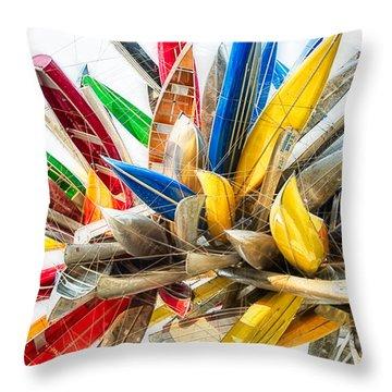 Canoe Art II Throw Pillow