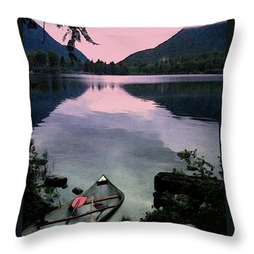 Canoe Day Throw Pillow