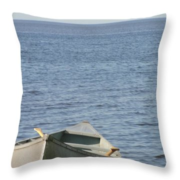 Throw Pillow featuring the photograph Canoe by Tiffany Erdman