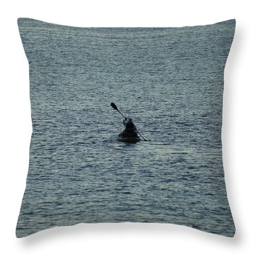 Throw Pillow featuring the photograph Canoeing In The Florida Riviera by Rafael Salazar
